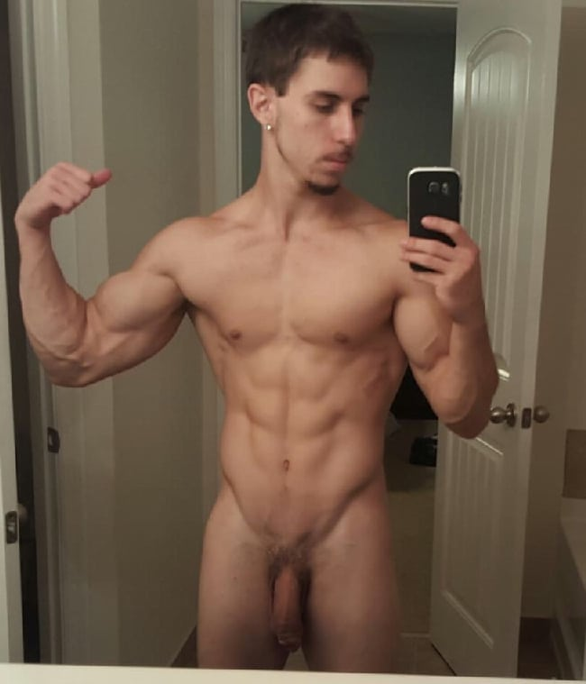 Sexy straight guy naked selfies