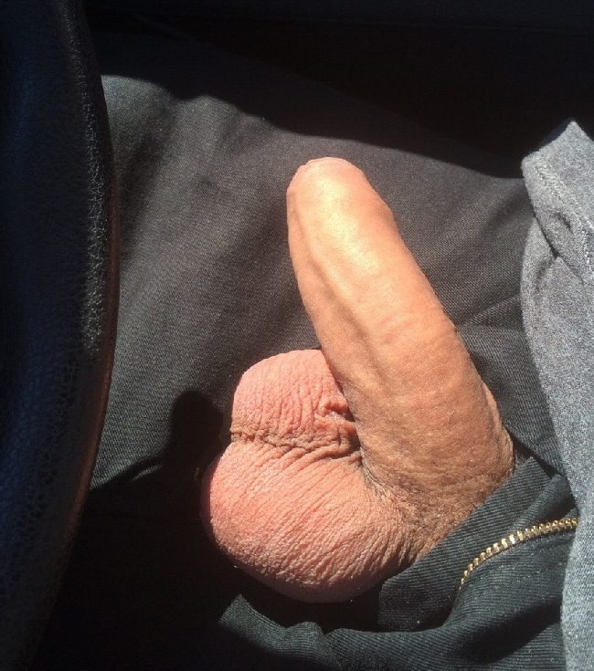 Car Man Have His Cock And Balls Out - Nude Gay Boy