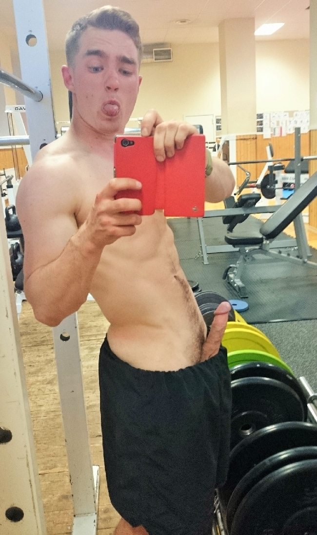 Cock In Gym